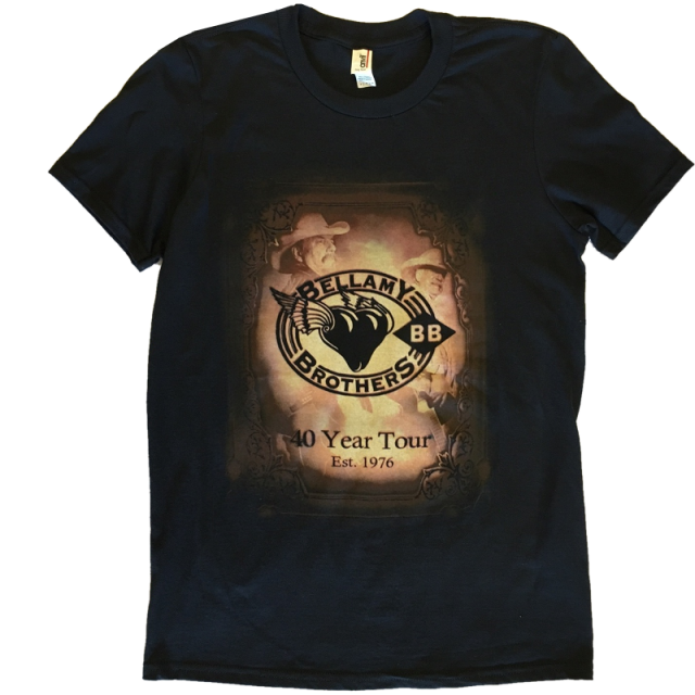Bellamy Brothers 40 Year Tour Black Tee