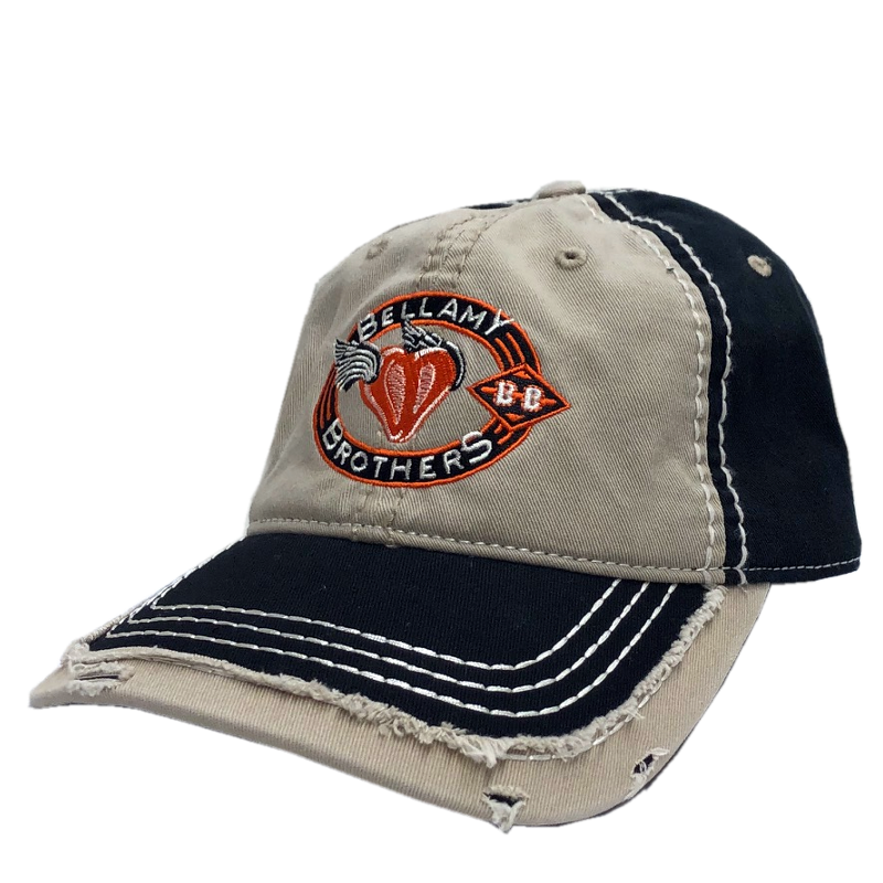 Bellamy Brothers Khaki and Black Distressed Ballcap