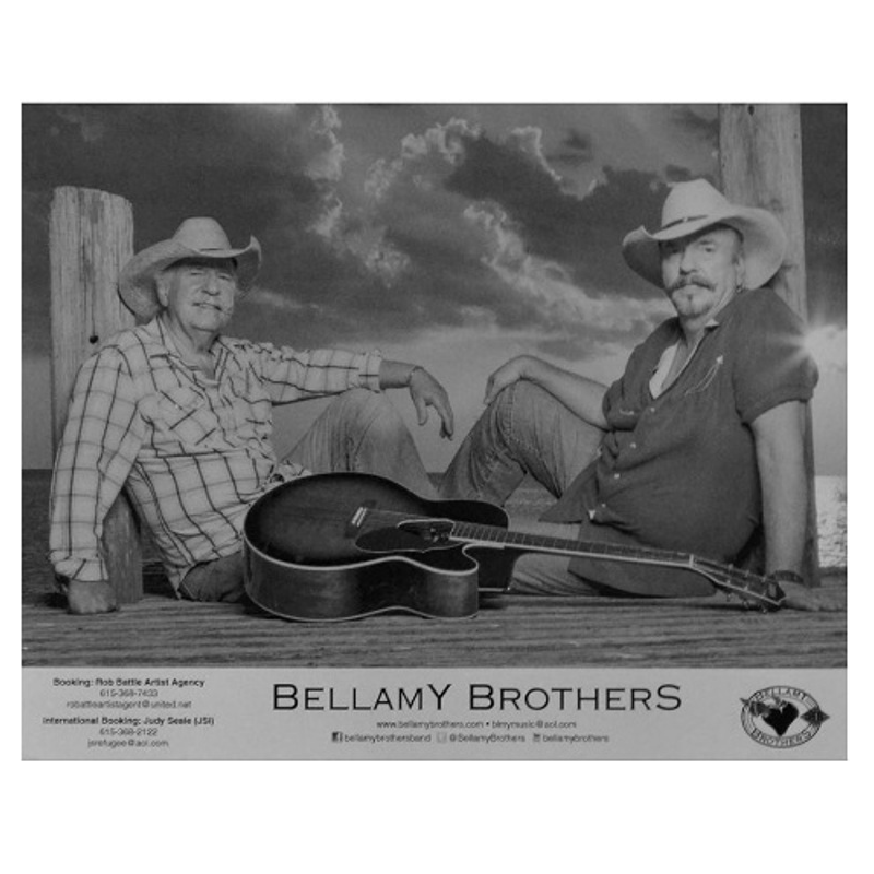 Bellamy Brother Black and White 8x10