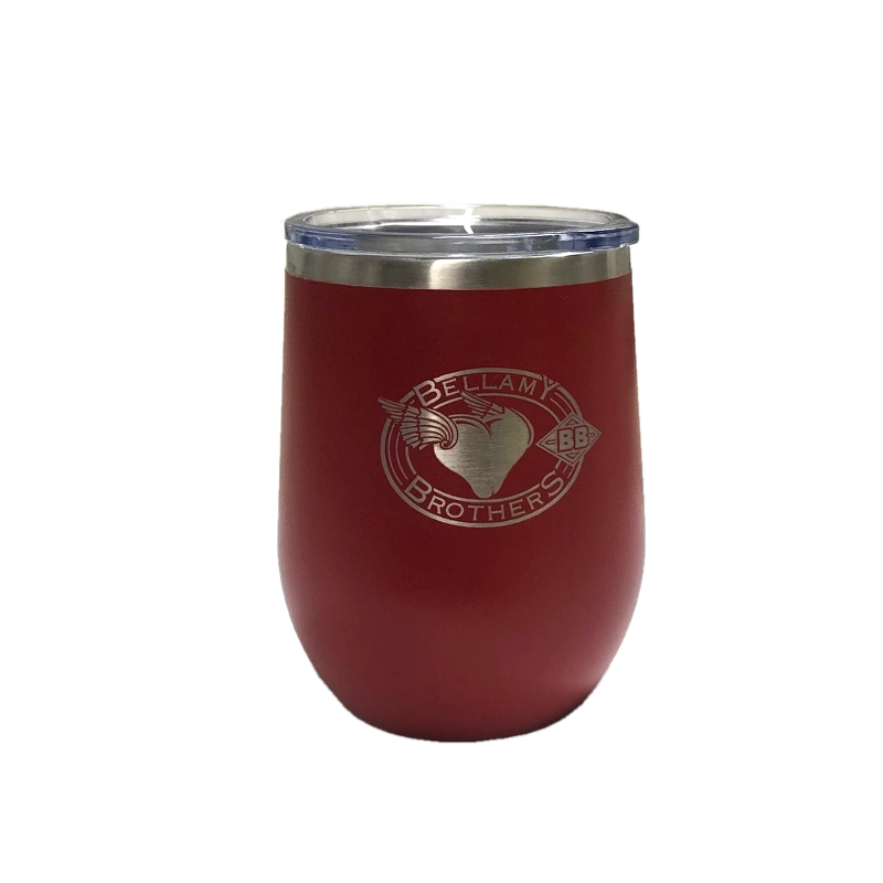 Bellamy Brothers 16 oz. Stainless Steel Insulated Stemless Wine Tumbler With Lid