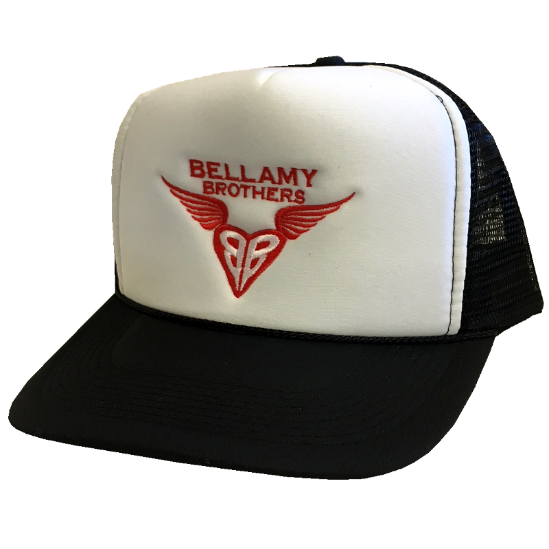 Bellamy Brothers White and Black Trucker Hat