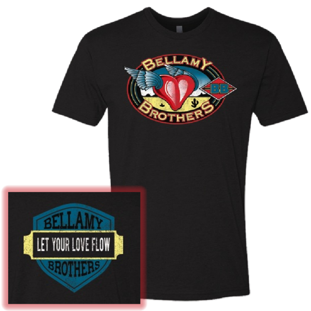 Bellamy Brothers Black Logo Tee