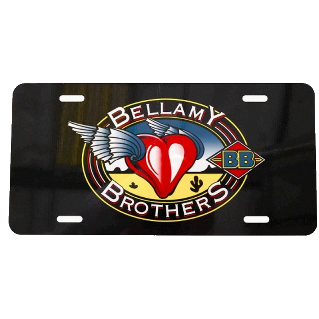 Bellamy Brothers Let Your Love Flow License Plate